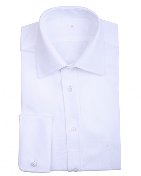 cde31c7999a1 Don Hering pinpoint πουκάμισο με διπλή μανσέτα slim fit