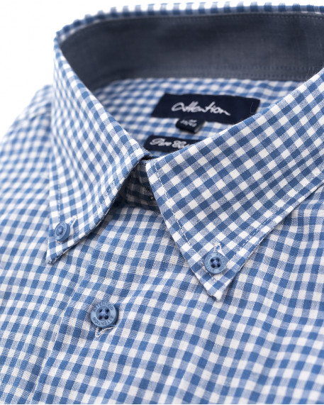 Attention gingham καρό button down πουκάμισο comfort fit 09448ad7460