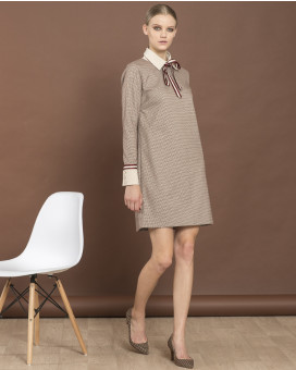 Sixties style check dress