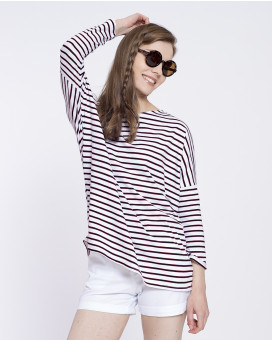Sporty style striped τοπ