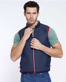 Capitone style sport vest