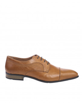 Half laser cut detailed oxford shoes