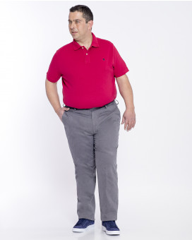 PLUS SIZE-Single color chinos classic fit
