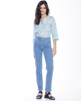 Straight line jeans