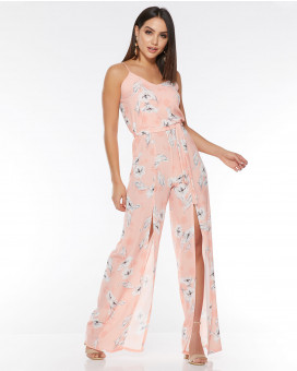 Floral printed romantic jumpsuit