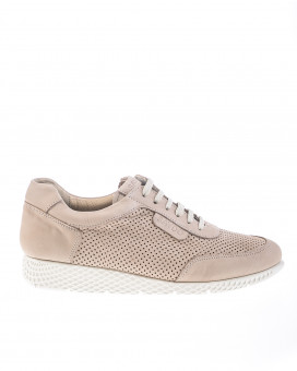 Nude color brogues sneakers