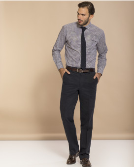 Formal cotton παντελόνι classic fit
