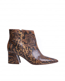 Snake skin style booties