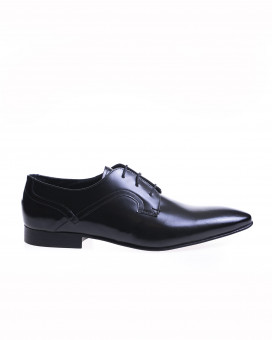 Patent leather style oxford shoes