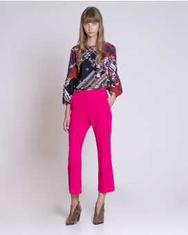 Regular style cropped παντελόνι