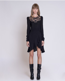 Ruffles and lace detailed dress