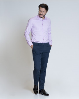 Formal cotton παντελόνι slim fit