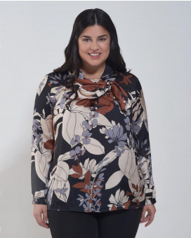 PLUS SIZE-Floral printed τοπ