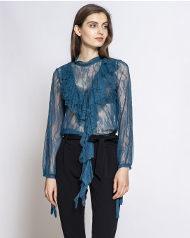 Lace night top