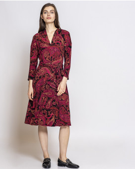 Paisley draped dress