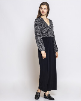 Leopard draped jumpsuit