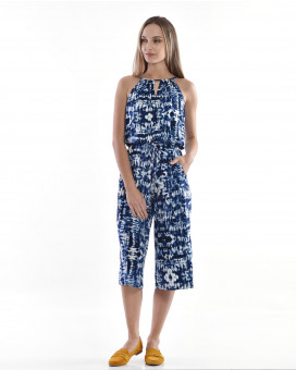 Absract printed jumpsuit