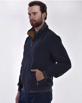 Light weight jacket double face modern fit