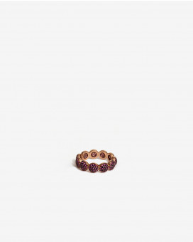 Gold Ring Round Shaped With gold crystals