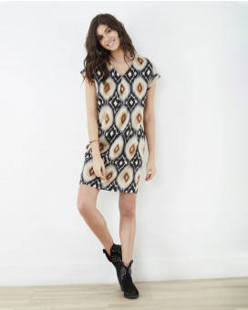 Retro printed dress