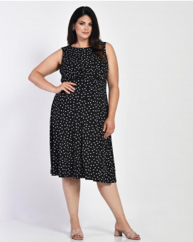 PLUS SIZE-Polka dot φόρεμα