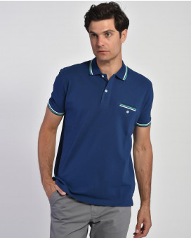 Striped collar polo t-shirt modern fit