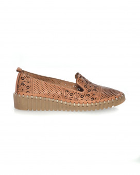 Woven style slip on loafers