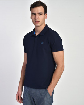Contrast collar polo t-shirt modern fit