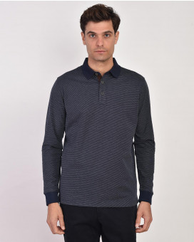 Long sleeve polo t-shirt modern fit