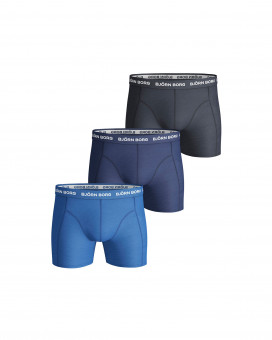 SHORTS SOLID 3 PIECES BLACK,BLUE,WHITE