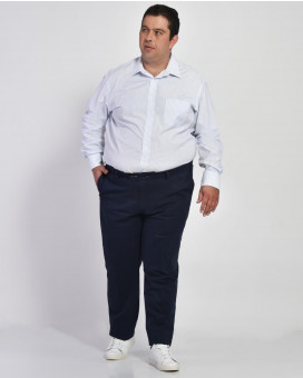 PLUS SIZE-Formal cotton παντελόνι modern fit