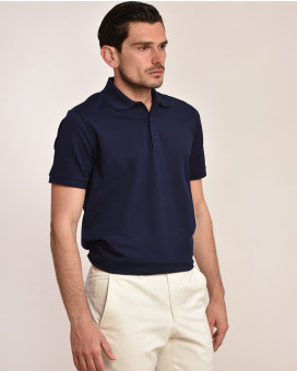 Μονόχρωμο polo t-shirt modern fit