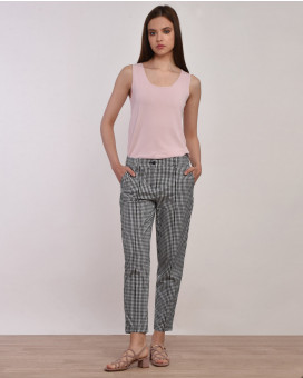 Gingham check παντελόνι