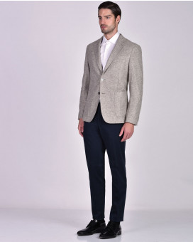 Boss jacket in micro-patterned stretch jersey slim fit