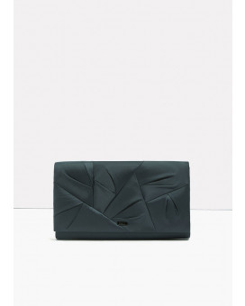Draped style clutch bag