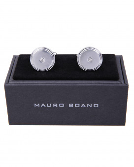 Mauro Boano round cufflinks with stones