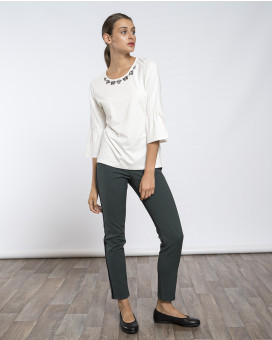 Skinny style cropped παντελόνι