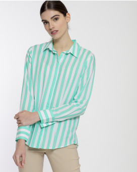 Regular line striped shirt