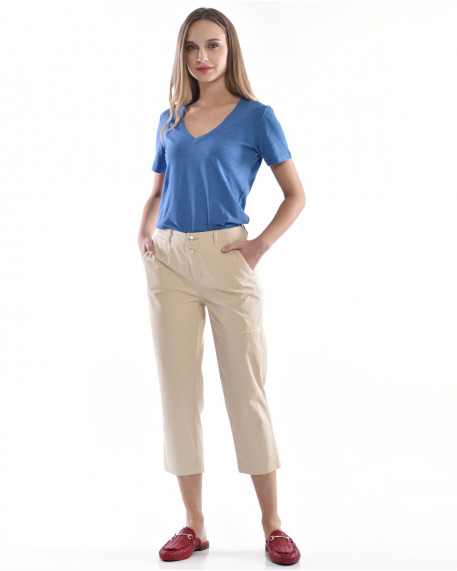 Cropped loose παντελόνι
