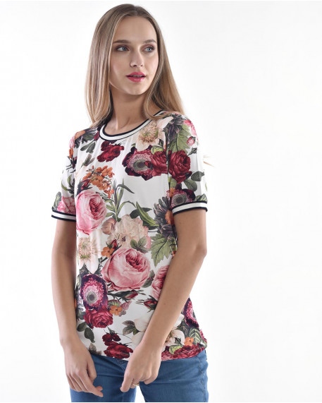 Floral sporty style top