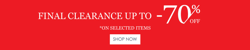 Final Clearance up to -70%